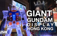 Gundam displayed at Times Square Causeway Bay