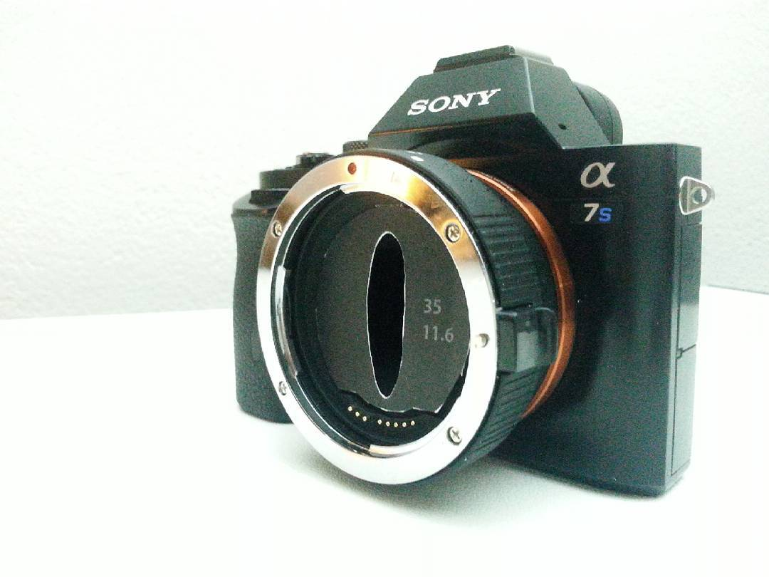 Prototype anamorphic filter for Commlite adapter