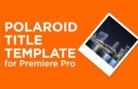 Polaroid Title Template
