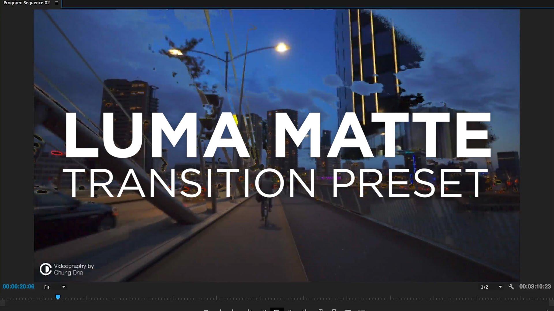 Luma Matte Transition Preset #adobe #premierepro #videoediting