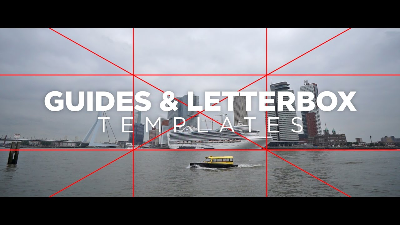Guides and Letterbox templates #adobe #premierepro #videoediting