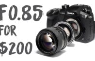 f/0.85 lens for $200 for Mirrorless crop Cameras