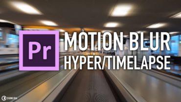 Motion Blur Hyperlapse / Timelapse Premiere Pro tutorial