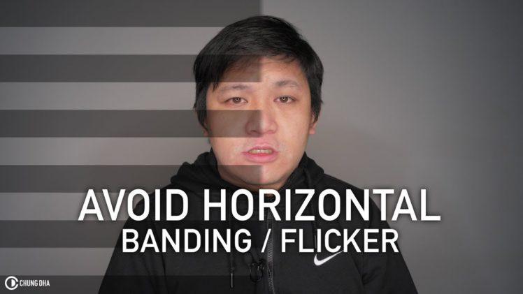 Avoid horizontal banding / flicker in videos