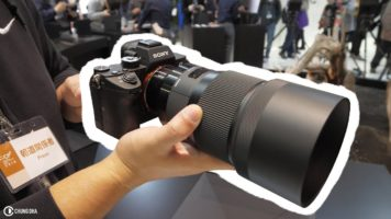 Sigma 135mm f1.8 lens first look at CP+ 2018