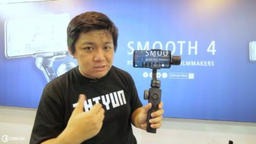 Zhiyun Smooth 4 overview at Zhiyun Booth in Hong Kong