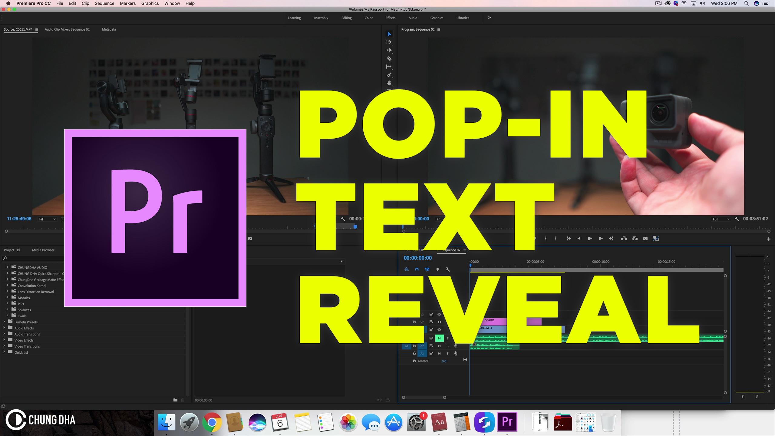 Pop-IN Text Reveal in #adobepremiere CC2018 #timelinetuesday #tutorial