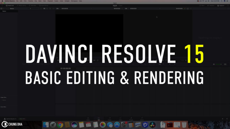 DaVinci Resolve 15: Getting Started with Basic editing & rendering