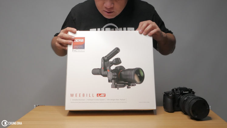 Unboxing Zhiyun Weebill + mounting Panasonic GH5 with Sigma 18-35mm f1.8 on it