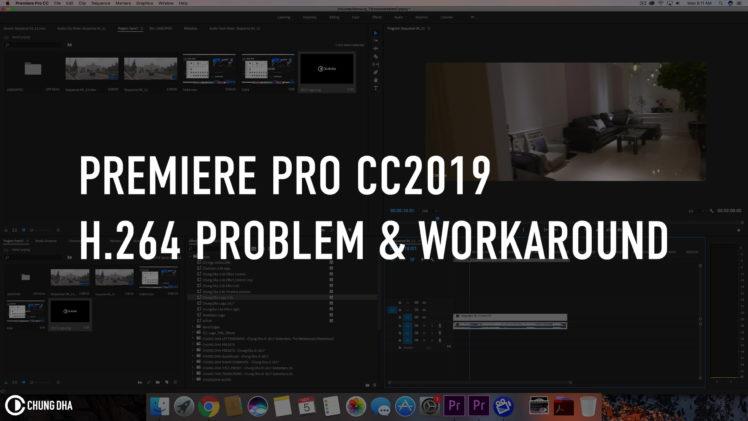 Premiere Pro CC2019 H.264 Problem & Workaround