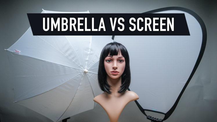 Umbrella vs Diffusion Screen lighting comparison