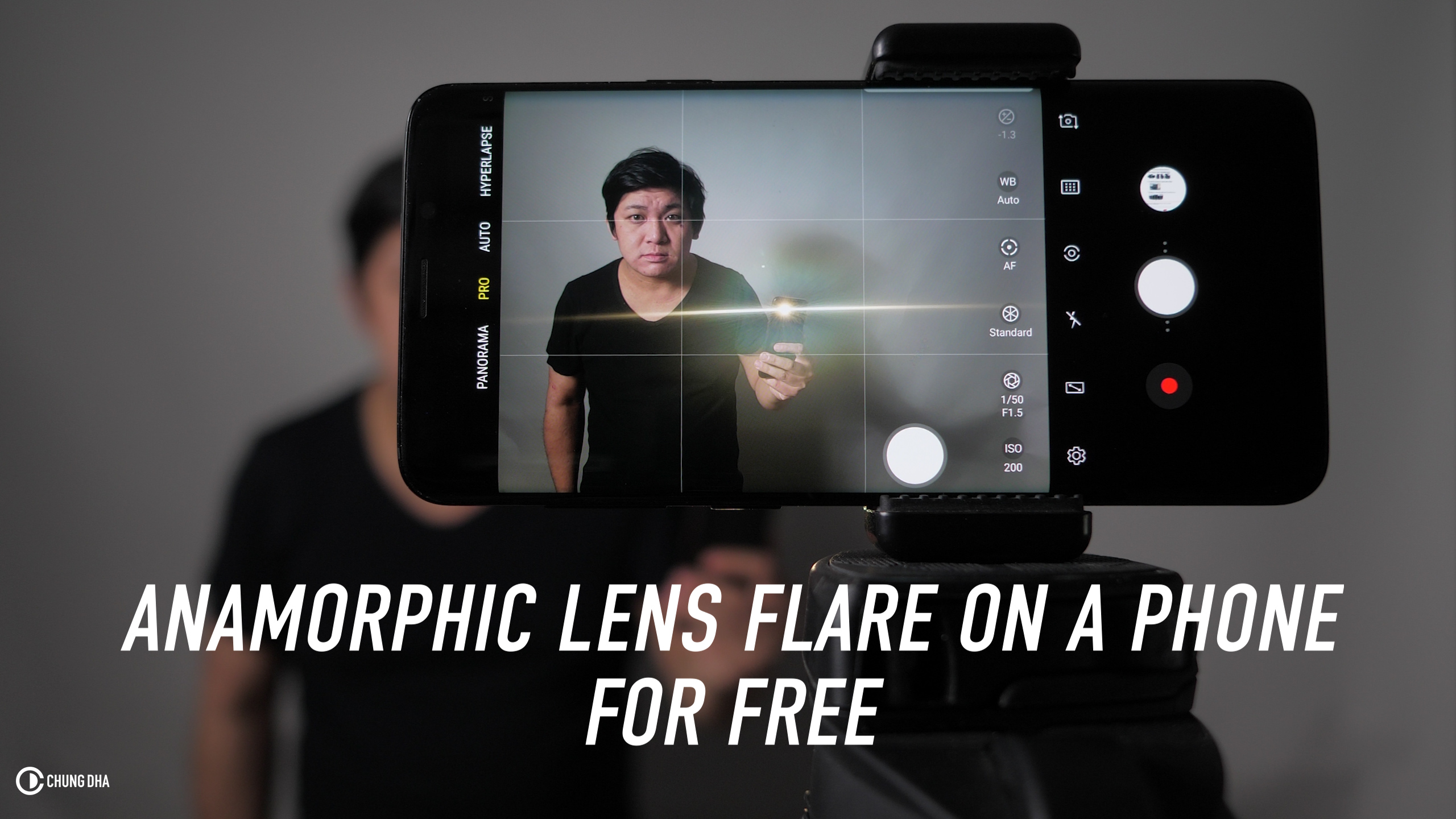 Anamorphic Lens Flare on a Phone for FREE tutorial
