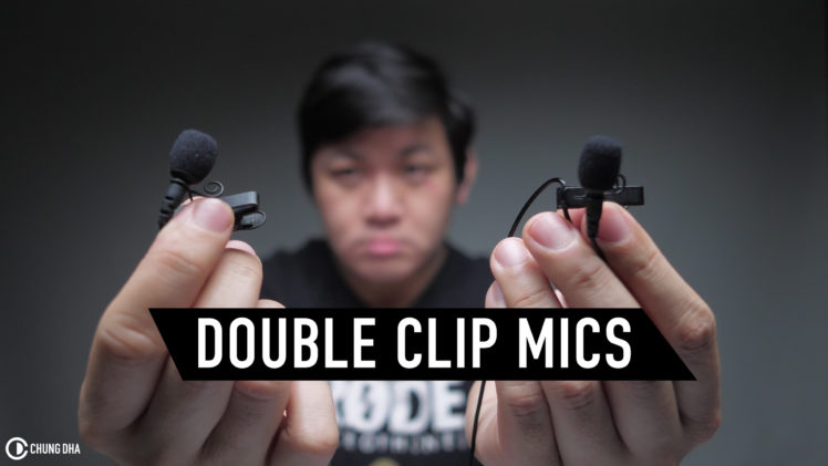 Double clip mic tip for important interviews