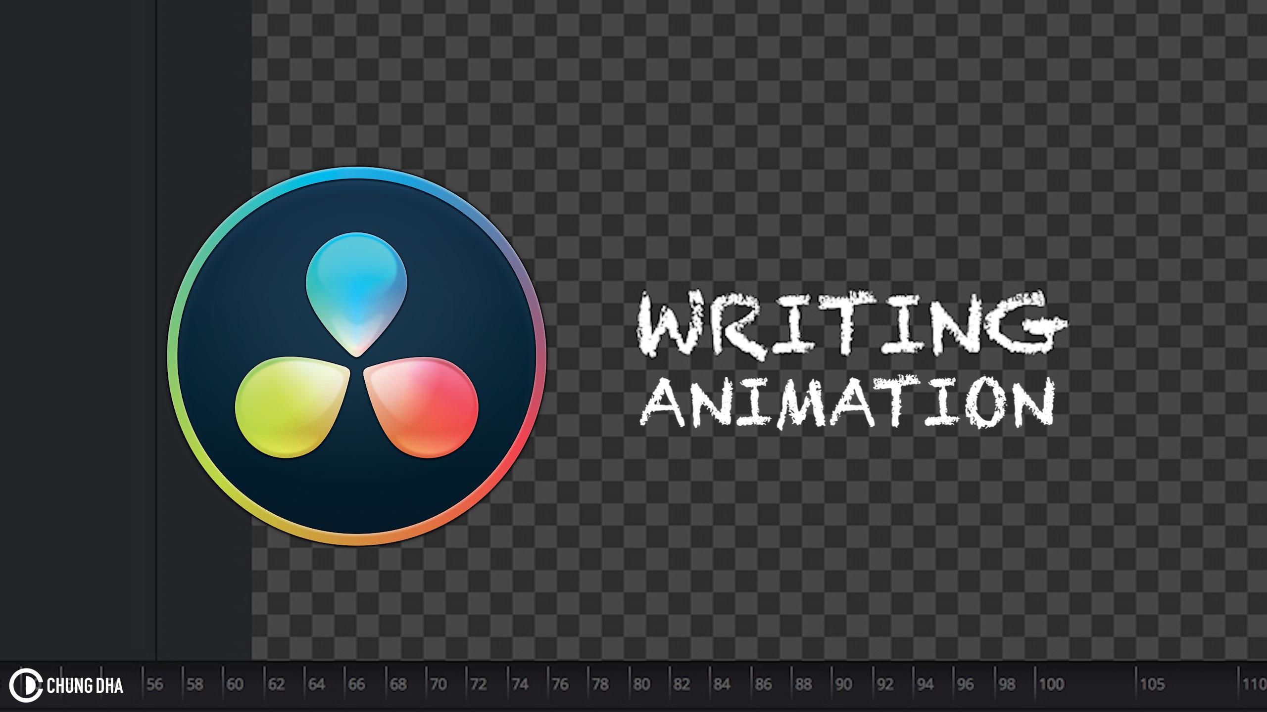 Handwriting animation in Davinci Resolve 15