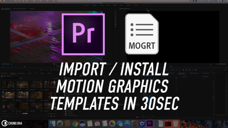 Import / install Motion Graphics Template in Premiere Pro