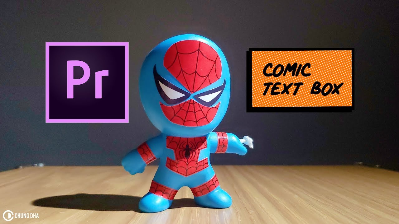 Comic Text Box from Sunflower (Spider-verse MV) Premiere Pro Tutorial