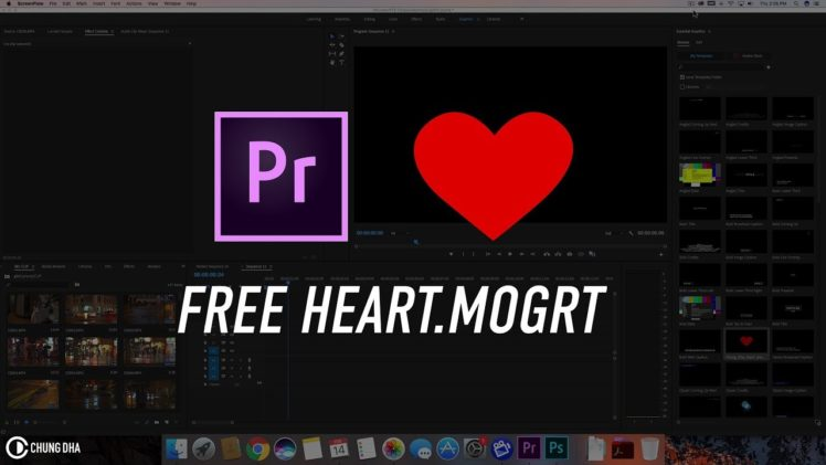 Free Heart Motion Graphics Template