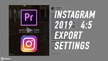 Instagram 2019 (4:5) Render / Export Settings