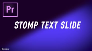 Stomp Text Slide Premiere Pro Preset #adobecc #adobepremiere #videoediting