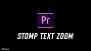 Stomp Text Zoom Premiere Pro Preset #adobe #adobepremiere #videoediting