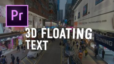 3d Floating Text #adobepremiere #tutorial #adobe #videoediting