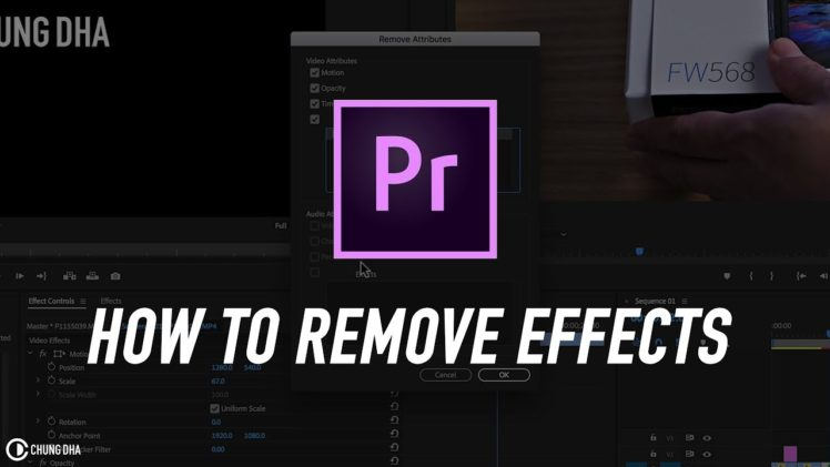 How to remove effects in Premiere Pro #adobe #adobepremiere #videoediting