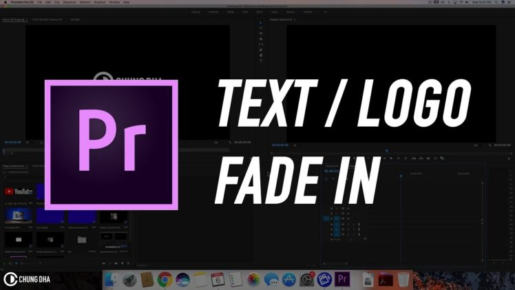 Text / Logo Fade in #adobepremiere #videoediting #adobe