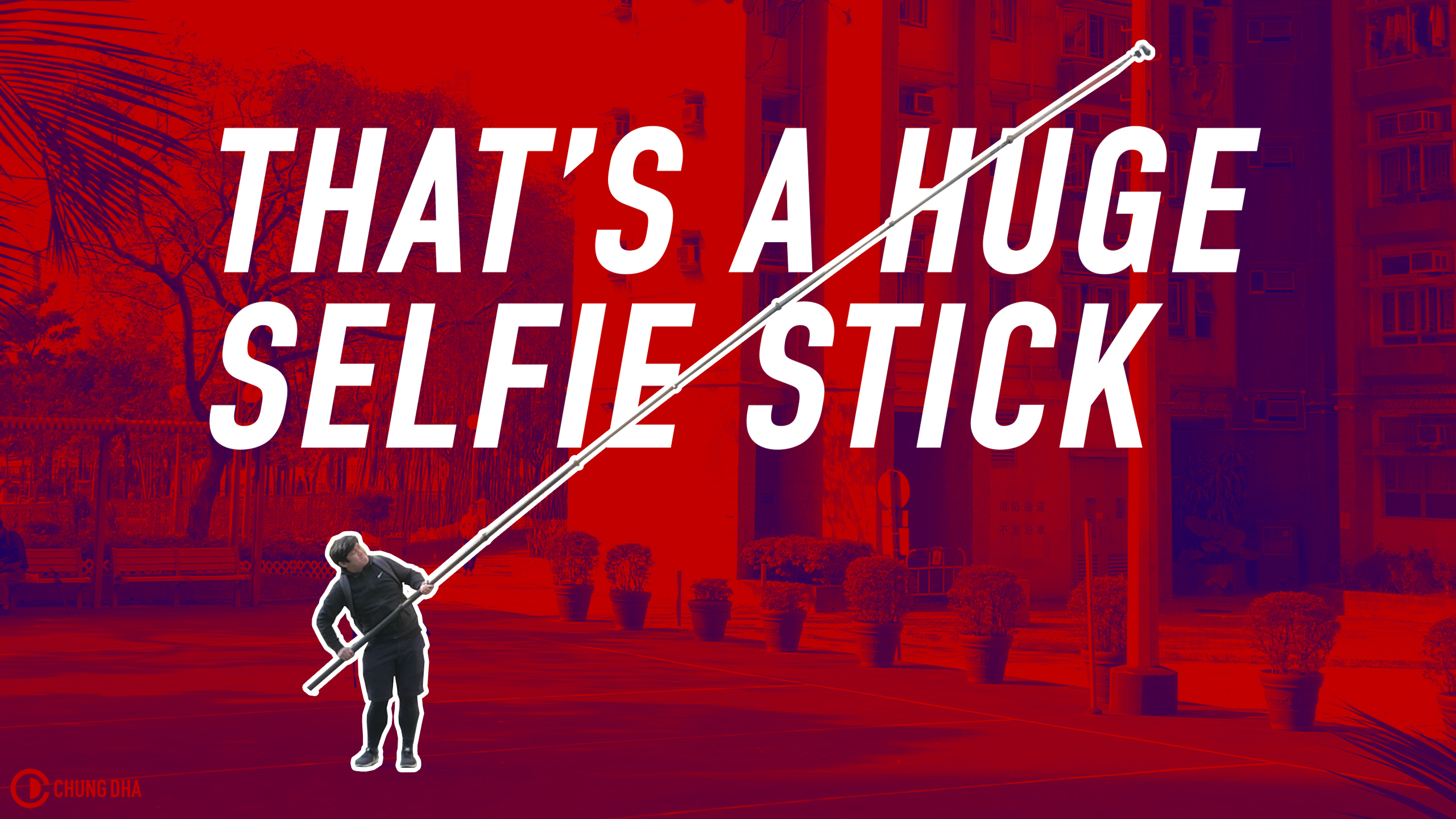 That's a huge Selfie Stick // Fotopro iSky Ultra