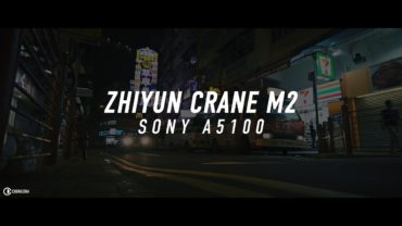 Zhiyun Crane M2 with Sony A5100 with 16mm f2.8 + VCL-ECU1 night test