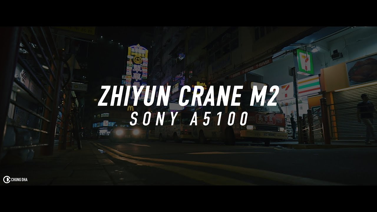 Zhiyun Crane M2 with Sony A5100 with 16mm f2.8 + VCL-ECU1 night test