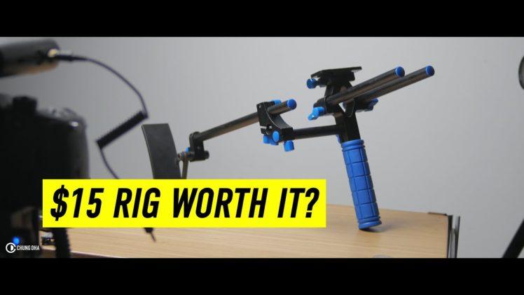 $15 DSLR Shoulder Rig worth it? #frugalfriday #filmmakingfriday