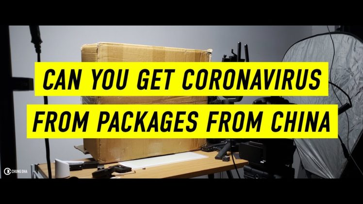 Can you get Coronavirus from packages / products from China?
