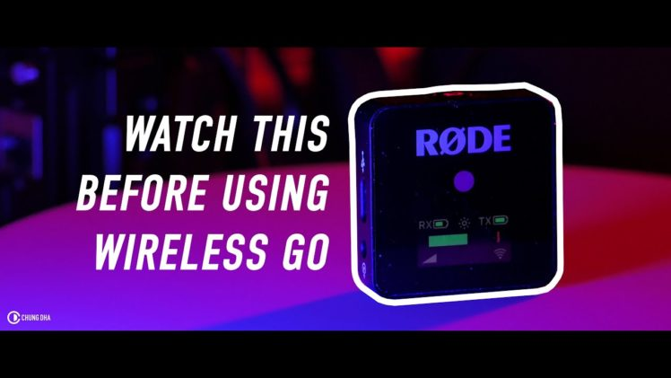 Watch this before using the RØDE Wireless Go for projects!!!