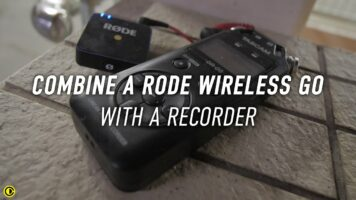 Combine Rode Wireless Go with a Recorder to make a wireless audio recorder