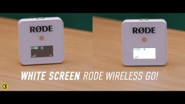 White Screen Rode Wireless Go
