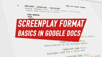 Screenplay format basics in Google Docs